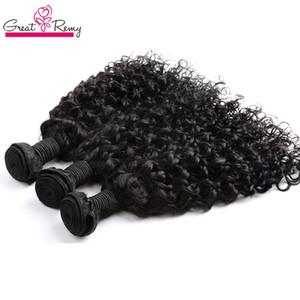 Greatremy® Vague brésilienne Extension de cheveux bouclés Big 100% Virgin humaine Bundle non transformé cheveux 3pcs / lot Dyeable Ocean Hair Weave Trame
