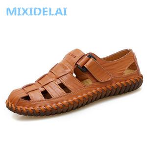 MIXIDELAI estate uomo sandali 2019 per il tempo libero spiaggia uomo scarpe di alta qualità in vera pelle sandali degli uomini sandali grande formato 39-47