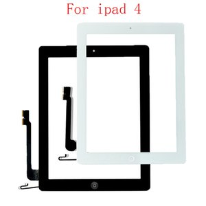 20Pcs Touch Screen Glass Digitizer Assembly Replacement for iPad 2 iPad 3 iPad 4 touch digitizer with adhesive tape white black