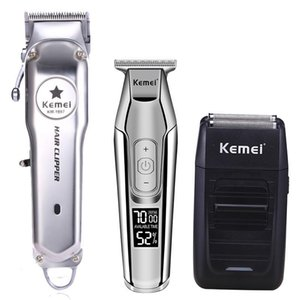Makine Seti KM-1997 KM-1996 KM-5027 KM-1102 Kemei Tüm Metal Profesyonel Elektrikli Saç Kesme Şarj edilebilir Saç Kesme Saç kesimi