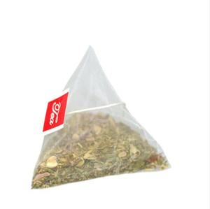 6.5*8cm Empty Disposable Teabags with Label String Pyramid Nylon Filters Herb Tea Infuser Strainers for Loose Tea IIA22