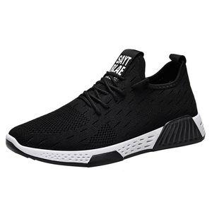 Shujin Maschio Tennis Scarpe Lace Up Misto Colore da uomo Scarpe da ginnastica Traspirante Confort Stretch Stretch Febric Mesh Shallow Flats Shoes Shoes Shoes 2020