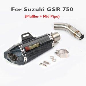 GSR 750 Motorcycle Exhaust Tip Silenciador Mid Oriente Ligação Ligação Exhaust Pipe Tube Sistema de GSR 750 GSX-S