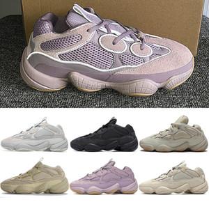 Kanye zapatos casuales para hombre Desert Rat 500 Soft Vision hombres de piedra de sal Blush Bone Utilidad Blanco Negro Súper Luna Amarillo zapatillas de deporte de las mujeres