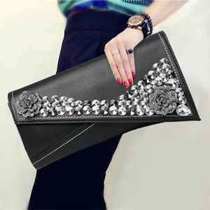 Genuine Leather women clutch bag female 2020 fashion handbag diamond female purse soft leather evening bag envelope