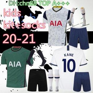 20 21 Spurs çocuklar eve uzakta + çorap futbol Jersey Setleri 2020 2021 Tottenhames Kane Oğlu Alderweireld Eriksen Dele LAMELA çocuk Futbol Gömlek