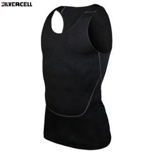 Chic Мужчины Compression Base Line Fitness без рукавов рубашки жилет дышащий Вверх