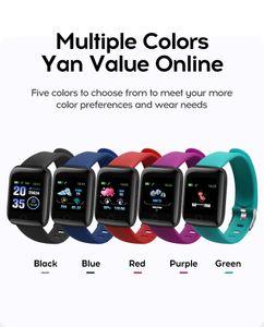 Sport Fitness Pedometer 116 PLUS Smart Bracelet Wristband Color Screen Walk Step Counters Smart Band D13 Men Women Sport Watches