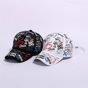 2019 new summer spring designer sunhats men women fashion outdoor baseball cap hat funny graffiti hip-hop cap snapbacks 55