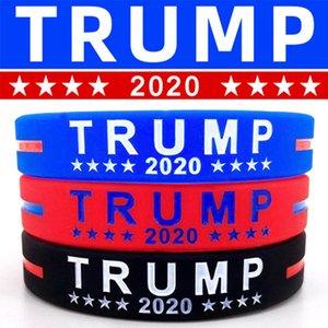 Trump de silicona Pulseras de goma de apoyo brazaletes de las pulseras hacer de Estados Unidos Gran Donald Trump 2020 Partido T2C5243 favor