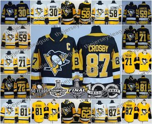 Pittsburgh Penguins Champions 3 Trois Patches 50ème 100ème 2017 Coupe Stanley Sidney Crosby Jake Guentzel Evgeni Malkin Maillot Kessel Murray
