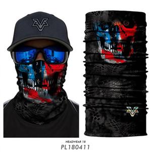 Skull Magic Scarf Riding Half Face Mask 10 Styles 3D Seamless Sport Cycling Fishing Bandana Headband Men Women Masks OOA7822