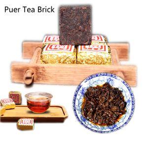 Yunnan granel madura Puerh Plazoleta de ladrillo envejecido Puer té chino cocido natural orgánico fermentado Puer té Promoción
