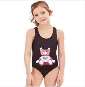 Menina Maiôs Designer One Piece Swimsuit Padrão Dos Desenhos Animados Biquíni Crianças Swimwear Natação Crianças Maiô Beachwear