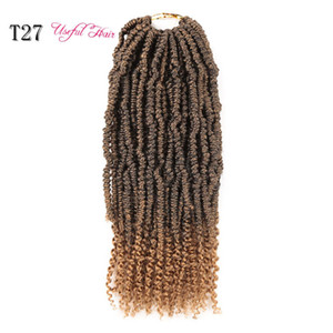 Passion Twist Fluffy Crochet Hair for Women Crochet Braids BOMB TWIST USEFULHAIR Ombre Synthetic Braiding Hair Bomb Nubian Bounce Twist