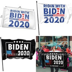 Stripe pentagonale Etoiles 2020 Drapeau avec Metal Oeillet Types Magnifique toit Bannière Élection Pour Biden horizontale signe Banners 12 5ft C2