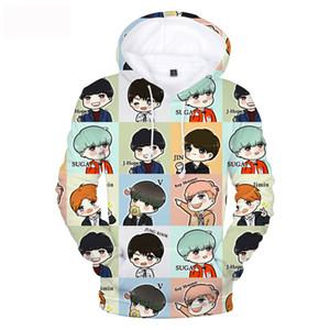 Aimez-vous BTS Kpop Sweat-shirt Fashion Imprimé 3D Femmes / Hommes Bangtan Garçons Kpop Moletom Feminino Hoodies Anime Vêtements Sweat à capuche