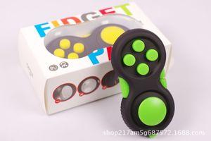 Stress Relief Cube Vinyl Desk Dedo colorida Brinquedos Apaziguador jogo interativo Handle Brinquedos Toy Plastic Antistress