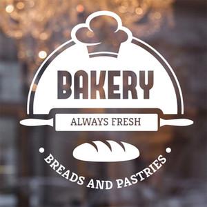 Poster Wall Sticker Panificio Pasticceria Sticker murale Fresh Bread vinile negozio di panetteria di arte della parete murale Cucina Decor Window Pane