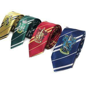 Harry Potter Tie Striped Necktie Gryffindor Slytherin Hufflepuff Ravenclaw badge Necktie ties Cosplay Costumes accessories KKA7869