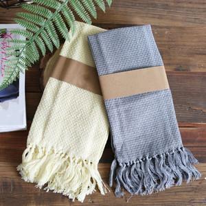 5pcs tissu de serviette de l'Europe boréale, coupe brosse tissu, torchon, tapis ouest manger est buvard ne laissez pas tomber serviette houppe art drap de laine hous