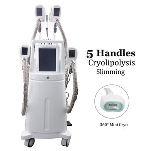 5 Cryo Handles Fat Freezing Weight Loss Machine Cryolipolysis Cold Therapy Fat Cells Removal Spa Salon Use Cryo Lipo Slimming Equipment
