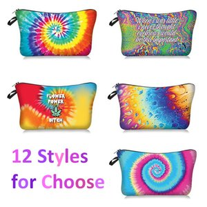Colorful Printed Makeup Bags Women Cosmetic Bag 3D Printing Pouchs For Women Travel Make up Pouch