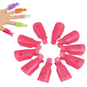 10 adet / takım plastik tırnak sanat Islatıcılar klip kapalı ıslatın kap cap İpucu kullanımlık giyilebilir UV Jel Cila Sökücü temizleyici wrap aracı profesyonel
