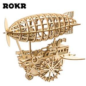 Robotime ROKR DIY 3D لغز خشبي الميكانيكية والعتاد محرك نموذج بناء لعب عدة هدايا للأطفال الكبار مراهقون CX200612