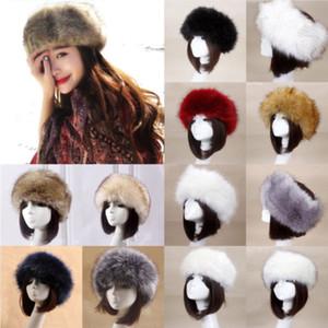 Band Lady soffici capo inverno cappello russo della falda dell'orecchio Faux Fur Fox Raccoon Cap Nuovo