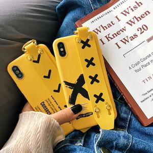 Unique cas pour iPhone XS Max XR X 7 8 6 6 s plus de bande dessinée de luxe belle cacher la sangle de la main support anneau titulaire de la couverture