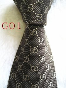 G01 # 100% шелк Классического Jacquard Woven Handmade Повседневного Галстук и деловые связи