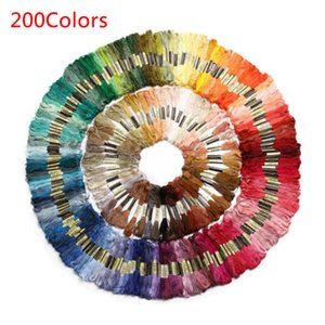Yarn Smooth Embroidery Thread 50-200Colors Cross Stitch Cotton Floss Sewing