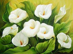 5d Diy алмазов картина вышивки крестом розы Белая Лилия круглый Алмаз рукоделие холст Живопись цветы украшения дома