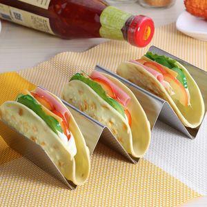 Taco supporto in acciaio inox Taco Stand Lavastoviglie Forno Salva facile da riempire Taco rack e perfetta per tenere la Delicious Tacos FFA3746