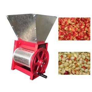 Tipo manual de la máquina granos frescos del grano de café de la máquina despulpadora de café tostado fresco pelador de café de la máquina desgranadora huller