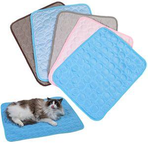 Refroidir en gros été Pet Mats Petit Chat Cooling Pad Pet Maison chenils Tapis Canapé Respirant Couchette Tapis d'été Tapis Tapis BH3599 TQQ