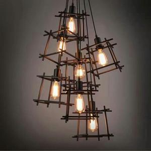 Black Hanging Pendant Lights Fixture Home Indoor Lighting American Industrial Retro Droplight Vintage Hanging Lamps Luminaire