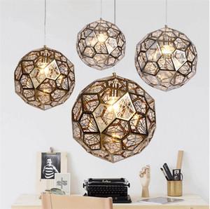 Lampade a sospensione moderne in acciaio inox Jewel Ball E27 Hang Lamp per camera da letto Salotto Store Hall Office Restaurant-L51