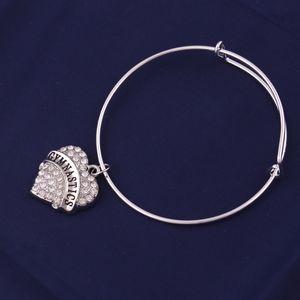 TX0022 ventes directes d'usine zircon brillant coeur forme charme gymnastique meilleur ami yaya bracelet bracelet réglable pour bijou cadeau petite amie