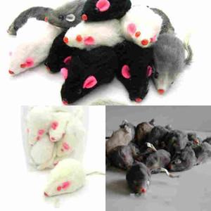 il mouse reale della pelliccia del coniglio per il mouse dei giocattoli del gatto con alta qualità sana libera il colore della miscela di trasporto 1pc