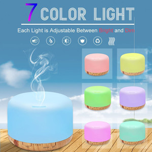 500ml Essential Oil Diffuser Humidifier Room Decor Lighting Settings LED Changing Lamps and Waterless Auto Shut-Off Home Fragrances HH7-2012