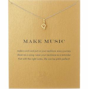 Nueva moda Dogeared collares de aleación de las mujeres Love Make Music Note moda colgante collar de cadena T061