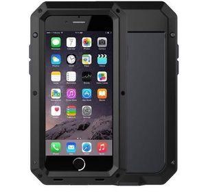 Custodia in alluminio metallo + cover protettiva in silicone per Iphone 7 6 6s Plus 5 5s Se Phone Case
