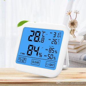 2019 neue Digital-Large-Screen-Thermometer-Hygrometer-Temperatur-Feuchtigkeits-Speicher On-Screen Display-Hintergrundbeleuchtung Thermometer