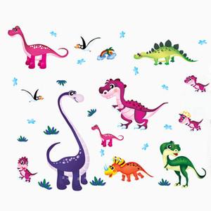 20190621 pintura de parede animal do dinossauro dos desenhos animados