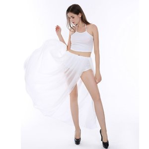 Women's White Two-Piece Chiffon Sexy Dress club outfits women two piece outfits skirt set Comfortable casual ladies long