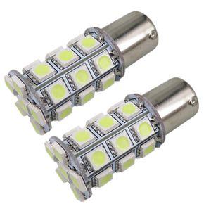 10X 12V auto del LED freno dell'automobile della lampadina 1156 Ba15s P21W 27SMD 27 SMD 5050 Attivare backup della parte finale del segnale della luce rossa Bianco auto styling