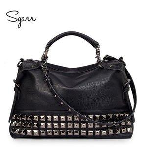 Le donne spalla in pelle SGARR LUSSO Borsa di marca borse in pelle Skin Designer Crossbody bag Famoso Big femminile del messaggero del Tote Bags V191114