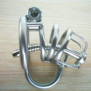 Chastity Devices Male Lock PA Chasity Cages Penis Plug Steel BDSM Bondage Gear Cock Stainless Steel Man Cbt Lock Latest Design